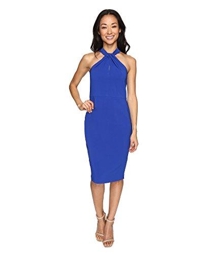 Christin Michaels Women's Amal Crepe Halter Dress Royal Dress for sale