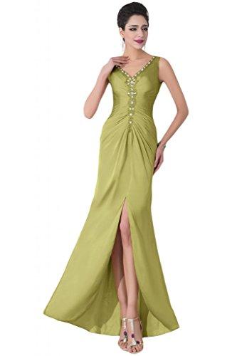 Sunvary scollo a V sexy spacco anteriore degli ospiti per matrimonio abiti abiti da ballo