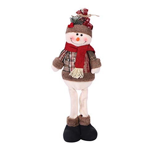 Christmas Santa Claus Plush Toy Stretchable Leg Sitting Doll Ornaments Christmas Home Party Table Decorations Xmas Tree Hanging Decor Gift Snowman Home Indoor Table Christmas Standing Figurine Toy ()