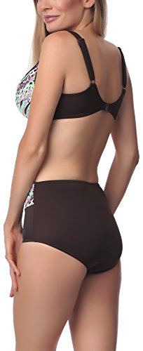 Antie Bikini Conjunto para mujer Malajta S Marrón