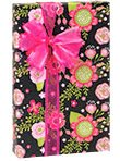 Chalkboard Flowers Birthday Party Gift Wrap 16 Foot (Mark Square Candle)