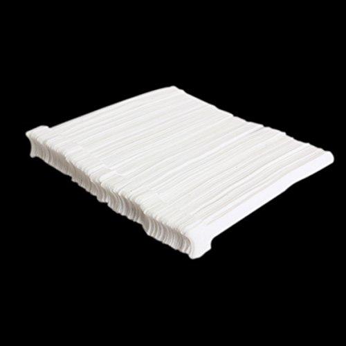 WinnerEco 100 pcs Adjustable Nylon Hook Loop Magic Tape Strap Cable Ties White
