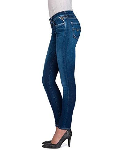 9 Femme Replay Skinny mid Denim Luz Bleu Jean Blue q8t1n8