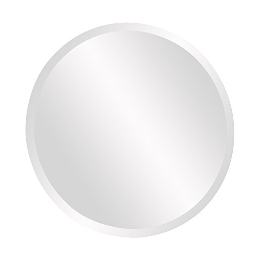 Misc Round Mirror - Howard Elliott Frameless Mirror, Hanging Round Wall Mirror, Large, 28-inch