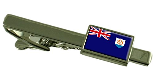 Anguilla Bar - Anguilla Flag Tie Clip Bar 55mm - Keepsake Engraved Personalized Case