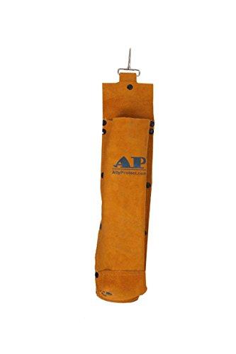AllyProtect Flame Retardant split cowhide leather electrodes/welding rod bag £¨Golden Color)