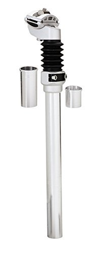 High Quality Multi-Fit Bicycle Suspension Seat Post, Silver B07C2S89JC