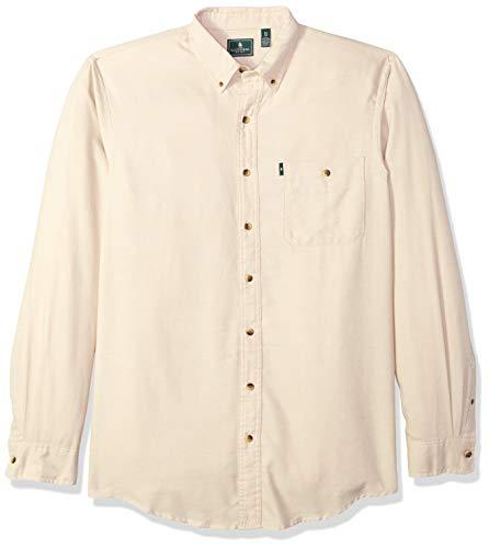 GH Bass Men's Big and Tall Jaspe Flannel Long Sleeve Shirt, pale khaki, 2X-Large Tall
