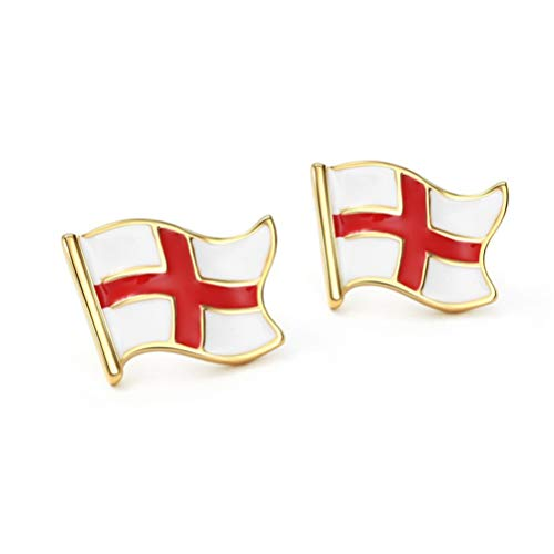 England Flag Country Stud Earrings For Basketball Football Sports Fans