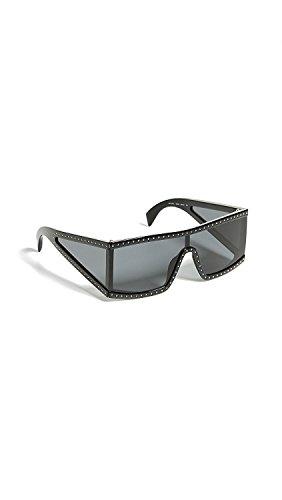 Moschino Women's All Lens Sunglasses, Black Grey/Grey Blue, One Size ()