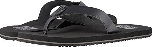 Reef Men's Twinpin Flip Flop, Black, 12 M US