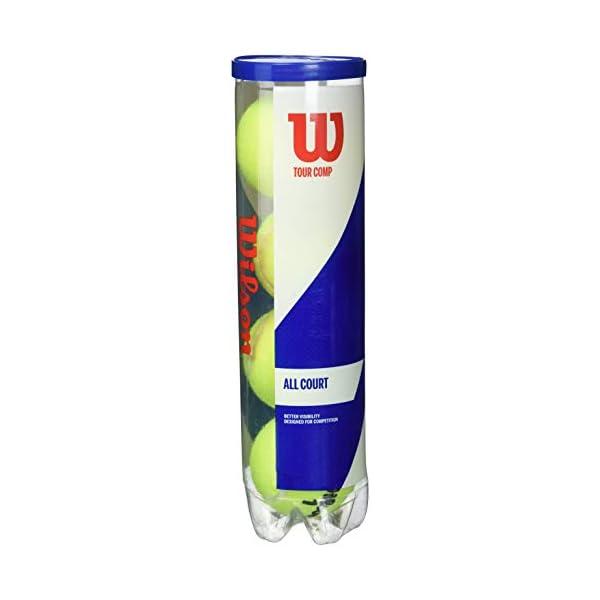 Wilson Palline da Tennis Tour Comp, per Campi da Tennis Duri, Giallo 1 spesavip