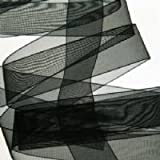 Nastro di organza nero, 22 mm x 10 m di lunghezza