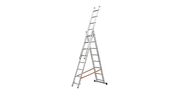 Escalera Aluminio Profesional 3X9 Peld: Amazon.es: Bricolaje y herramientas