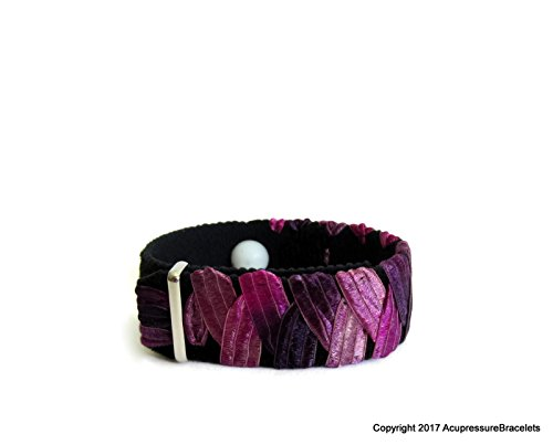 "Anxiety Relief Bracelet for Stress, Nervousness, Palpitations, Tension Headaches (one bracelet) Purplicious (large 8"") from Acupressure Bracelets"