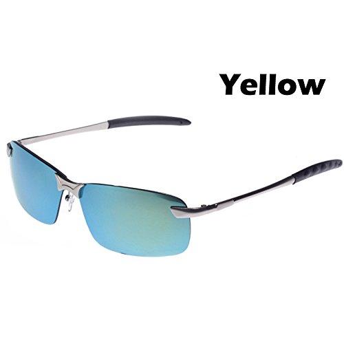 marco de Plata Ropa hombres automovilista en Lens Lente de Gafas guía gafas TIANLIANG04 polarizadas anti Yellow fresco Macho de sol espejo de 400 el gafas gafas de UV aleación w1UUXxF6
