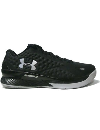 Under Armour Curry Low Men's Basketball Shoe (9.5, Black/Steel/Metallic Silver)