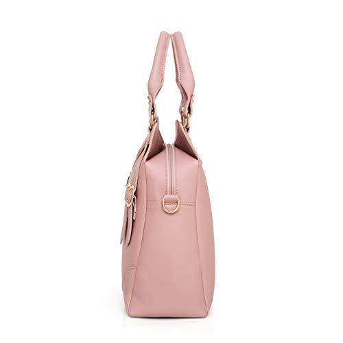 Black Leather Pink Shoulder W33H31D13 Bags Composite Totes Handbag 3 cm 6wzBxqZ