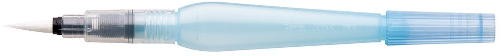 Pentel- Pincel con depósito de agua (punta mediana, recargable, cerdas de nailon) XFRH/M