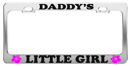 DADDY'S LITTLE GIRL FAMILY LOVER LICENSE PLATE FRAME TAG HOLDER CAR ACCESSORIES