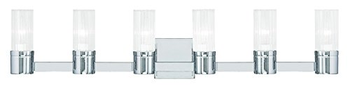 Livex Lighting 50685-05 Midtown 6-Light Bath Light, Chrome ()