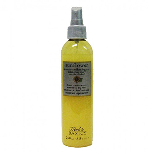 Back to Basics Sunflower Leave-In Conditioner and Detangling spray 8.5 Ounces