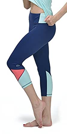 TH3 Women's Performance Yoga Pants with Tri-colour Waist and Cuff X-Small Grape