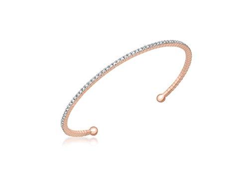 Or Rose 9carats-Diamant 0,50Cts Flexible Couple Bracelet