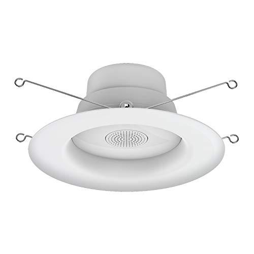 LED+ Speaker Indoor Flood Light, Recessed Light Bulbs, 65-Watt Replacement, Soft White, LED Flood Light with Bluetooth Speaker Light Bulb, 1-pack