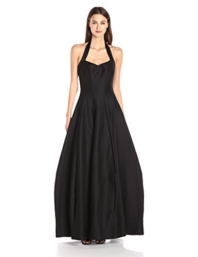 HALSTON-HERITAGE-Womens-Halter-Neck-Structured-Gown