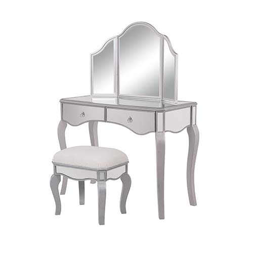 Elegant Lighting Contempo Vanity Table, Mirror, and Chair Set ()