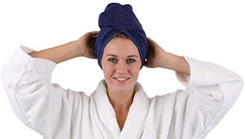 Betz – Juego de 2 toallas de mano de pelo turbante cabeza turbante ...