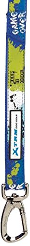Casual Canine Xtreme Logo Lead, 6-Feet by 1-Inch, Blue