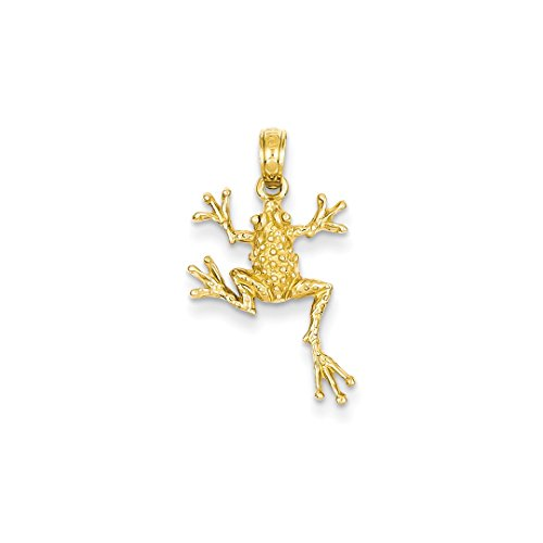 Solid Gold Frog - ICE CARATS 14kt Yellow Gold Solid Frog Pendant Charm Necklace Animal Fine Jewelry Ideal Gifts For Women Gift Set From Heart