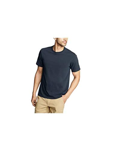 Eddie Bauer Men's Legend Wash Classic Pro Short-Sleeve T-Shirt, Midnight Navy Re