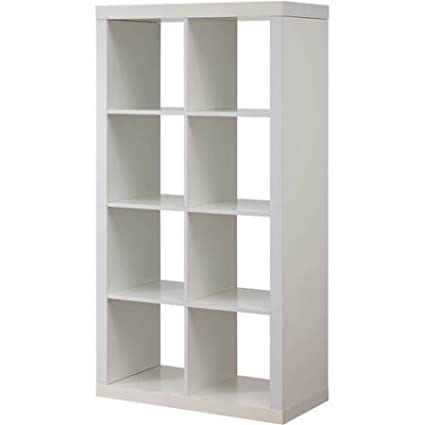 Modern Eight Square Cubbies White Closet Storage Unit With Cubes Shelves  Cabinet Shoe Organizer Space Saver
