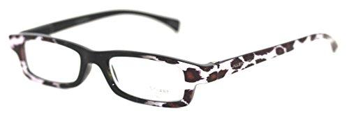 Jill Stuart Modified Rectangle Plastic Reading Glass. JRS1 Black - Stuart Glasses Jill