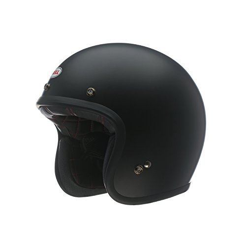 Bell Custom 500 Unisex-Adult Open face Street Helmet (Solid Matte Black, Large) (D.O.T.-Certified)