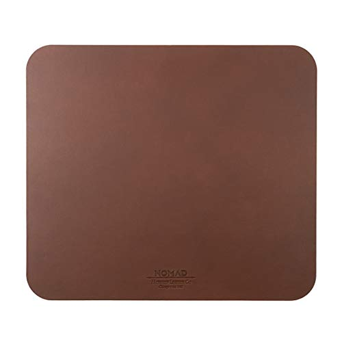 Nomad Horween Leather 12.5-Inch by 11-Inch Mousepad, Leather with Non-Slip Rubber Base (Rustic Brown)