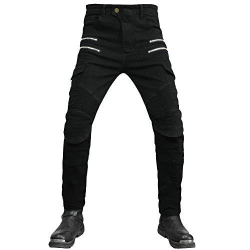 SHUOJIA Herren Motorradhose Jeans Motorrad Hose Motorradrüstung Schutzauskleidung Motorcycle Biker Pants