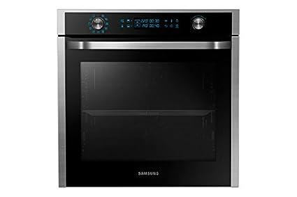 Samsung NV75J5540RS - Horno (Medium (45 - 75 l total capacity), 75L, Eléctrico, Integrado, Negro, Acero inoxidable, Giratorio, Tocar): Amazon.es: Hogar
