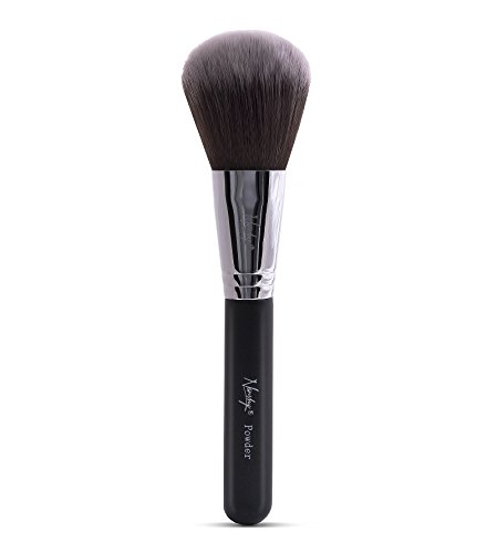 Nanshy Large Face and Bod Powder Makeup Brush for cosmetic such as foundation, bronzer, blush. Vegan, soft synthetic, cruelty free brushes. Black Handle by Nanshy