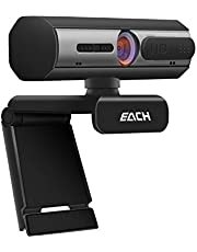 $29 » AutoFocus Full HD Webcam 1080P with Privacy Shutter - Pro Web Camera with Dual Digital Microphone - USB Computer Camera for PC Laptop Desktop Mac Video Calling, Conferencing Skype YouTube