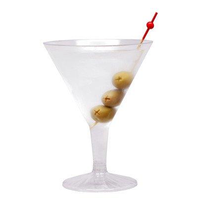 Mini Plastic Martini Glass, Disposable Martini Glasses - Crystal Clear Premium Plastic - 2 oz - 100ct Box - Restaurantware RWP0121C