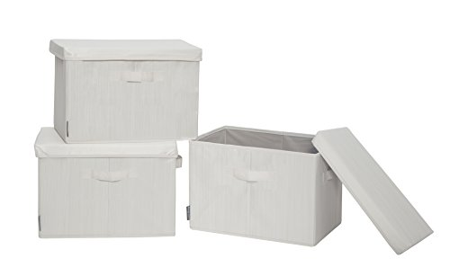 STORAGE MANIAC Canvas Storage Box Lid, Folding Basket Organi
