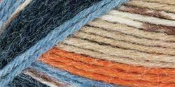 "Mary Maxim Natural Alpaca Tweed Yarn ""Caramel Stripe"" | 4 Medium Worsted Weight Yarn for Knit & Crochet Projects | 77% Acrylic, 20% Alpaca, 3% Viscose| 4 Ply - 262 -"
