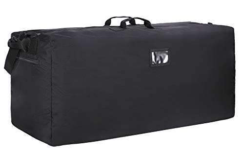 (MIER Heavy Duty Nylon Cargo Duffel Bag Extra Large Travel Duffle,Foldable,Black)