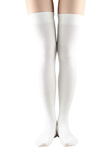 Women Non Slip Thigh High Socks Fashion Tube Stockings above Knee Cosplay Socks