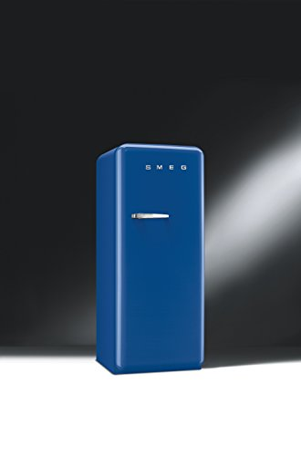 Smeg FAB28UBLR 50's Retro Style Aesthetic Refrigerator with Freezer Compartment, Black