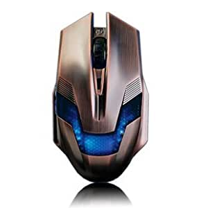 A-JAZZ 2000DPI Green Hornet LED 6 Buttons Bronze Pro-Gaming Optical Mouse Bronze
